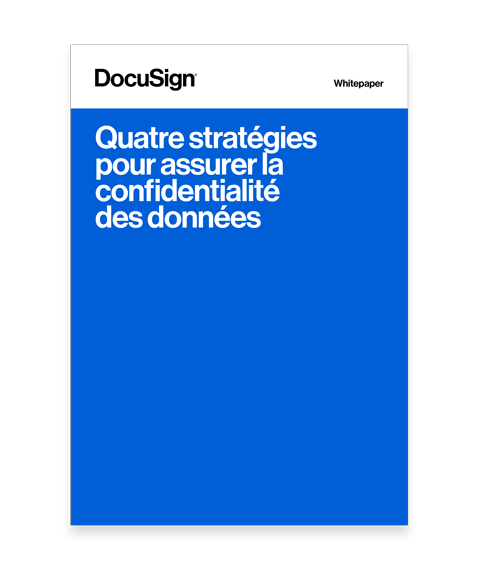 Livre blanc docusign data privacy