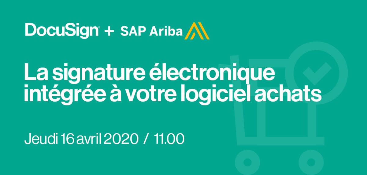 SAP Ariba DocuSign webinar