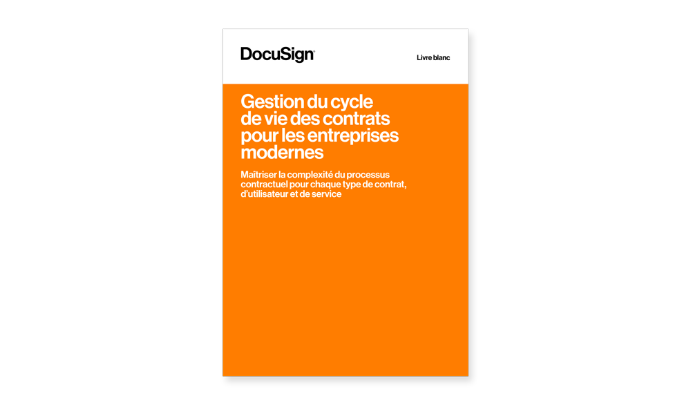 Livre blanc CLM Contract Lifecycle Management DocuSign