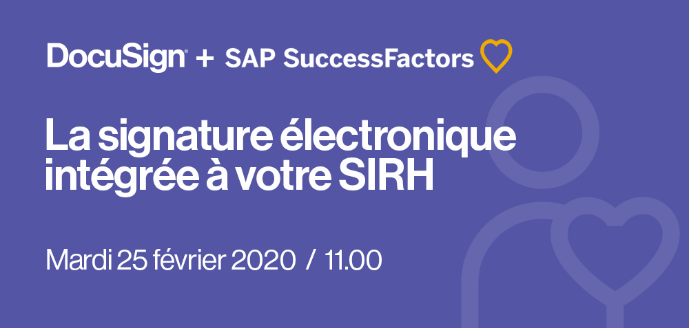 Webinar DocuSign + sAP Successfactors