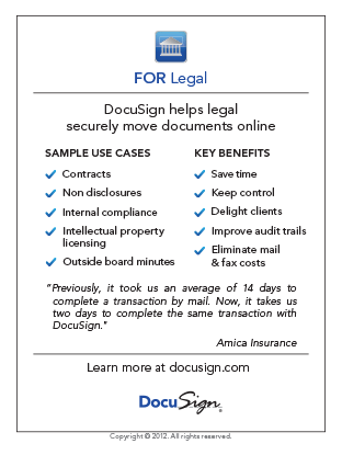 DocuSign for Legal Use Case